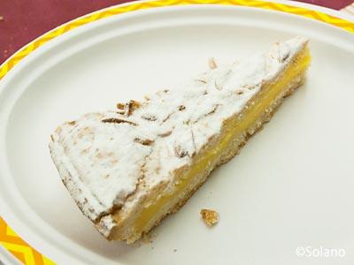 EC、食堂車でのランチ、デザートのケーキ