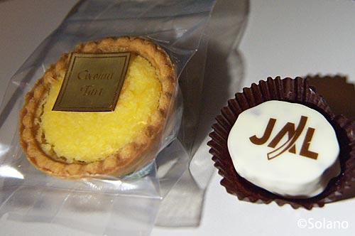 JALビジネスクラス、セルフサービスコーナーのお菓子