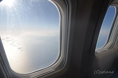JTA那覇行きフライトの機窓