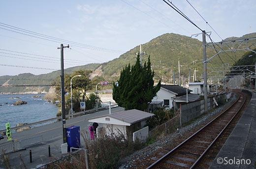 jR西日本・紀勢本線、紀伊半島西側の海沿いにある見老津駅