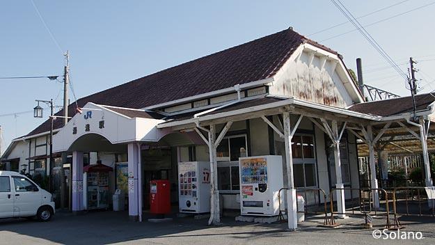 JR西日本・紀勢本線、湯浅駅の古びた木造駅舎