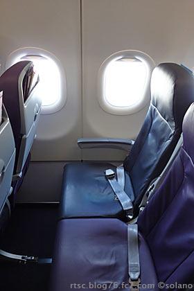 ピーチアビエーションA320の座席、意外に広い!?