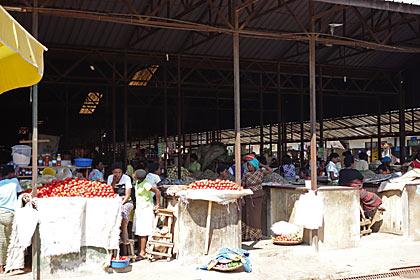 キガリ、庶民の市場、キミロンコ・マーケット
