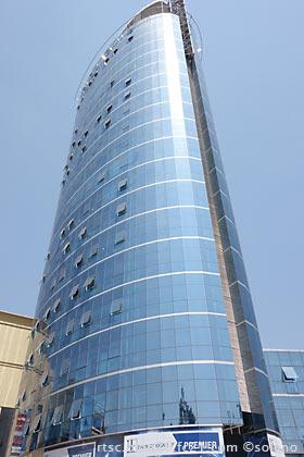 キガリ中心部、ランドマークのキガリシティタワー