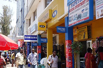キガリ中心部の繁華街・Avenue du Commerce
