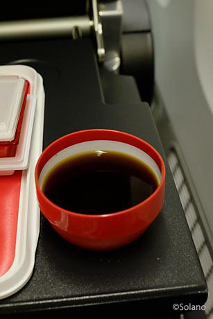 JALロンドン線、プレミアムエコノミークラス機内食、コーヒーメニュー