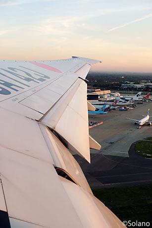 JALロンドンヒースロー空港離陸、LHR・T4
