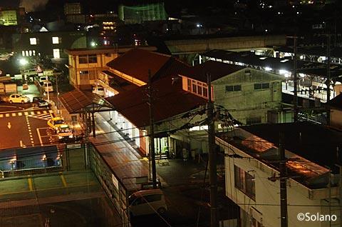 ホテルアルファーワンから眺めたJR津山駅駅舎