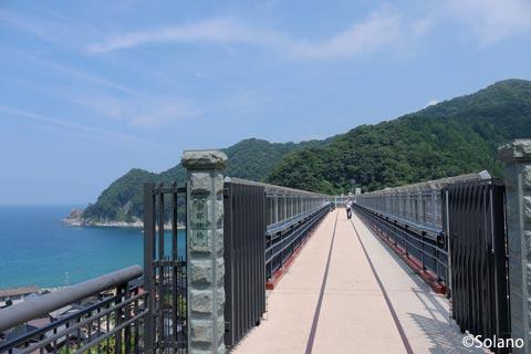 餘部駅、余部鉄橋の遺構を利用した展望台「空の駅」