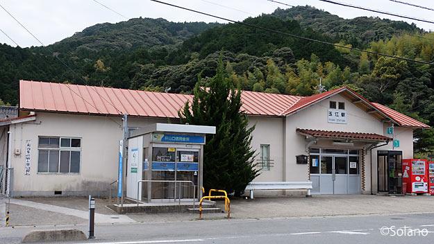 山陰本線、萩市内にある玉江駅