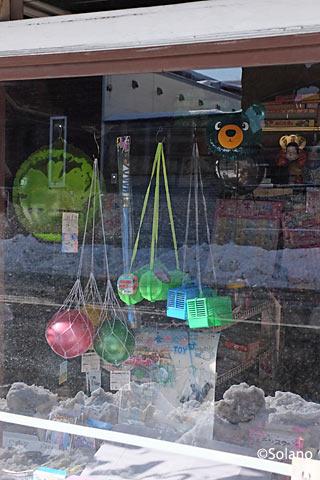 幾寅駅前、街中のレトロなおもちゃ屋っぽいお店
