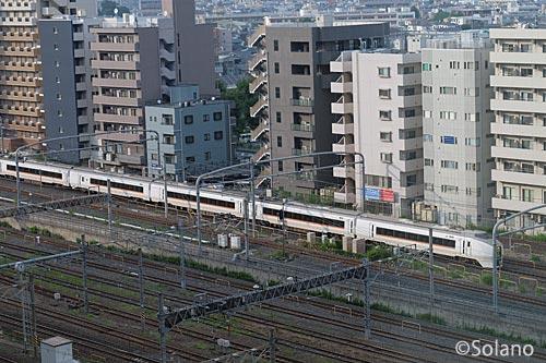 ホテルメトロポリタン・さいたま新都心、列車の眺め