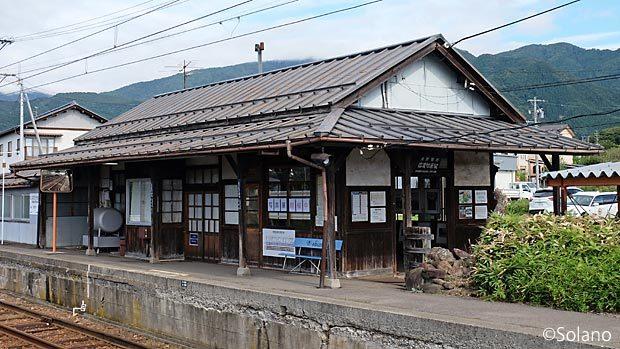 長野電鉄・信濃竹原駅の木造駅舎