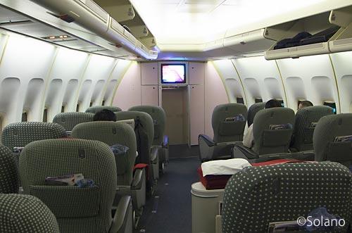 JALのジャンボ、B747-400D、AコンパートメントのクラスJ