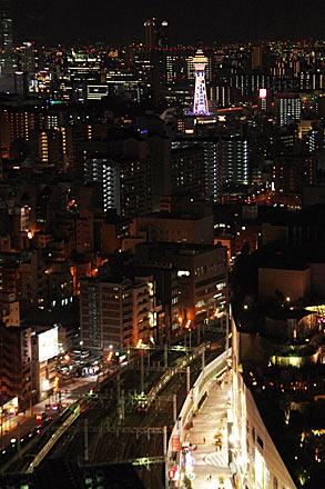通天閣と大阪の街並みの夜景