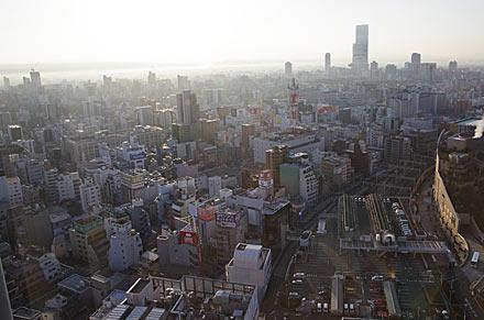 スイスホテル南海大阪、客室からの眺め。あべのハスカスetc...