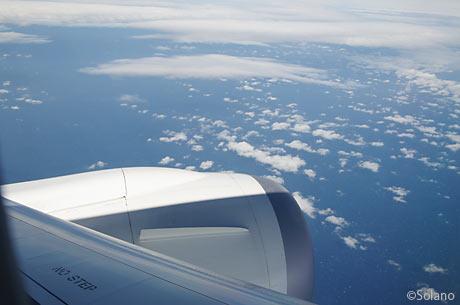 JAL国内線・中部-成田の機窓、海