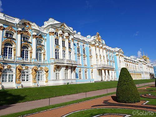 ロマノフ王朝の離宮、夏の宮殿ことエカテリーナ宮殿