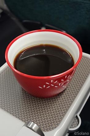 CXプレミアムエコノミークラス機内食、食後のコーヒー