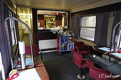 プラハ-ウィーンのEC食堂車、ビュッフェコーナー