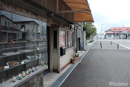 曳家後の浜寺公園駅旧駅舎と駅前通の食堂(跡?)