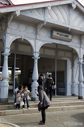 愛される駅舎、南海電鉄・浜寺公園駅