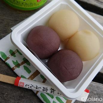 浜寺公園駅名物、福栄堂の松露だんご