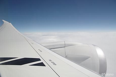 JAL国内線B787、中部‐成田線の機窓