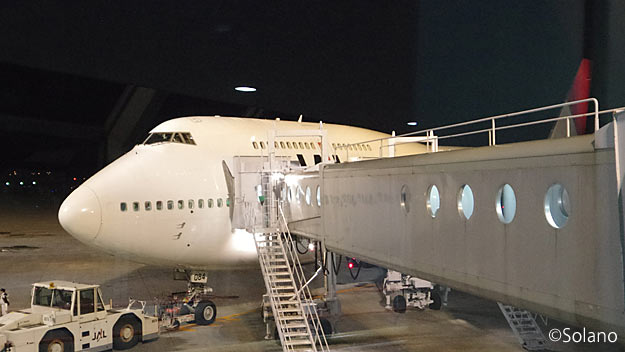 JAL・日本航空のB747-400、新千歳空港にて