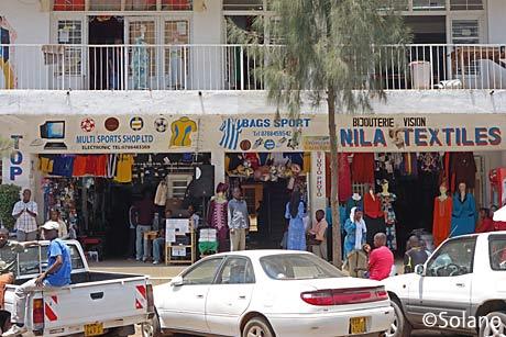 ルワンダ・キガリ、市中心部繁華街のお店
