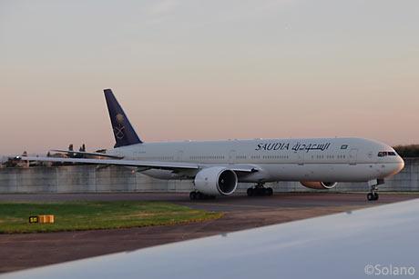 LHR、サウジアラビア航空のB777-300ER