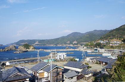 見老津‐江住駅間徒歩、紀州の漁村風景