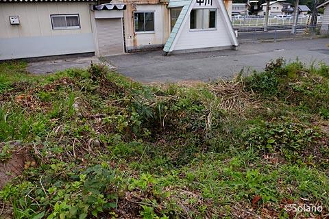 奥羽本線(山形線)・中川駅の池庭跡と駅舎