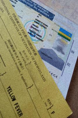 ルワンダビザと黄熱病予防接種の国際証明書