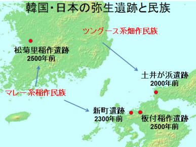 韓国・北九州の弥生遺跡と民族