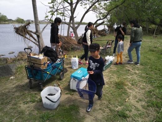 二ヶ領宿河原堰釣り (8)