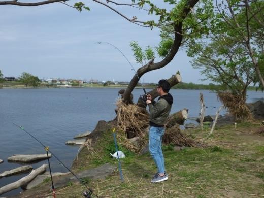 二ヶ領宿河原堰釣り (18)