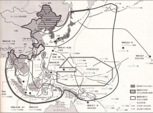 日本軍戦線図2