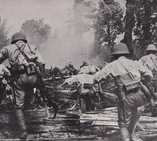 オランダ軍を追撃する日本軍2