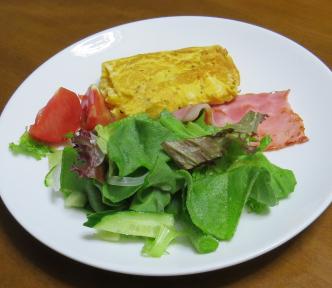 アイスプラント入りサラダ1