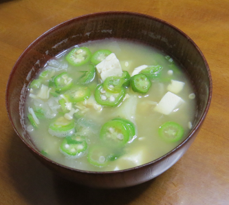 オクラ味噌汁