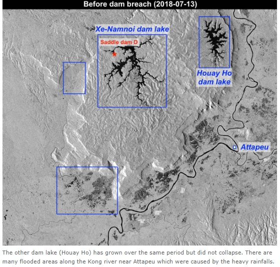 2018-7-28ダムの衛星写真決壊前
