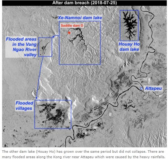 2018-7-28ダムの衛星写真決壊後