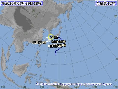 2018-7-29台風12号