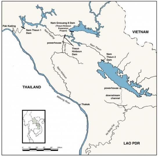 2018-9-15Nam Theun2ダム地図