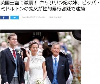 news英国王室に激震! キャサリン妃の妹、ピッパ・ミドルトンの義父が性的暴行容疑で逮捕