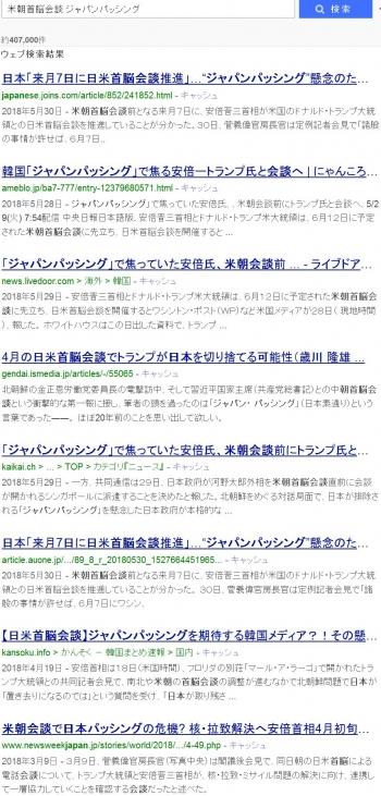 sea米朝首脳会談 ジャパンパッシング