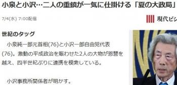 news小泉と小沢…二人の重鎮が一気に仕掛ける「夏の大政局」