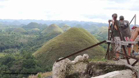 Chocolate Hills,Carmen,Bohol(After the Bohol earthquake)