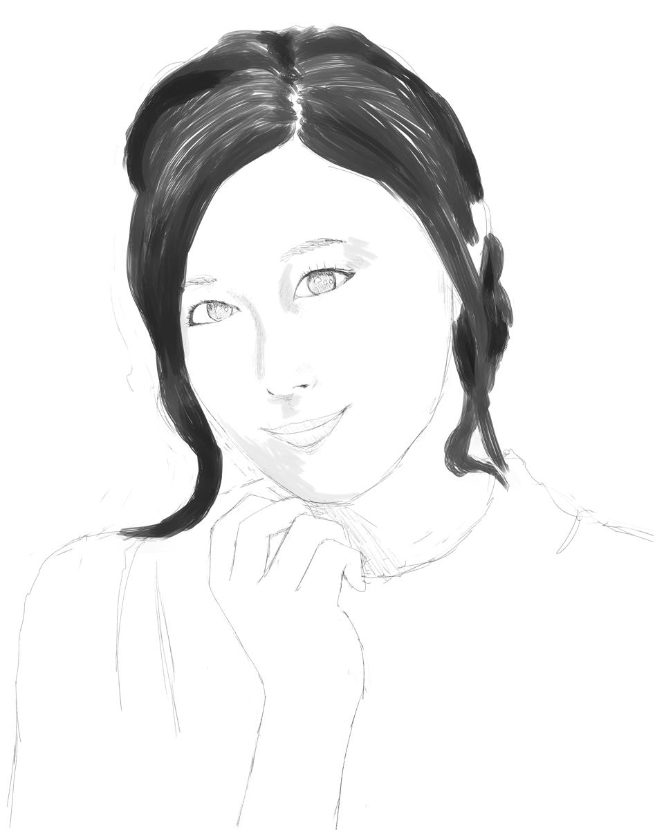 寿美菜子を描く スケッチ